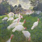 The Turkeys at the Chateau De Rottembourg, Montgeron, 1877 Premium Giclee Print by Claude Monet