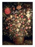 Large Bouquet of Flowers in a Wooden Tub, 1606-07 Giclée-Druck von Jan Brueghel the Elder