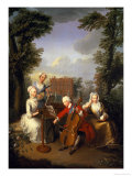 The Music Party, Frederick, Prince of Wales and His Sisters, circa 1733 Premium Giclee Print by Philippe Mercier
