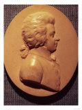 Portrait Medallion of Wolfgang Amadeus Mozart, Giclee Print