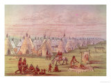 Comanchee Village Giclee Print by George Catlin