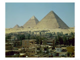 The Pyramids of Giza, circa 2589-30 BC, Old Kingdom Giclee Print