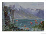 Ferritet, Lake Geneva, 1882 Giclee Print by John William Inchbold