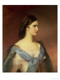 Empress Elizabeth of Bavaria (1837-98) as a Young Woman Premium Giclee Print by Franz Schrotzberg