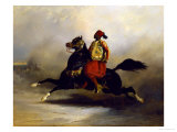 Nubian Horseman at the Gallop Giclee Print by Alfred De Dreux