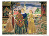 Merchant Women Giclee Print by Boris Kustodiyev