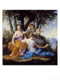 The Muses, Clio, Euterpe and Thalia, circa 1652-55 Giclee Print by Eustache Le Sueur