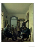 Preparations for Hunting, 1836 Giclee Print by Jevgraf Fiodorovitch Krendovsky
