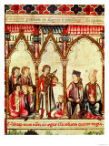 "Group of Troubadours, Illustration from ""Cantigas De Santa Maria"" Giclee Print"