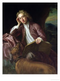 Alexander Pope and His Dog, Bounce, circa 1718 Giclee Print by Jonathan Richardson