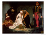 The Execution of Lady Jane Grey, 1833 Reproduction proc&#233;d&#233; gicl&#233;e par Hippolyte Delaroche