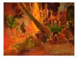 Upaupa (Tahitian Dance), 1891 Impression giclée par Paul Gauguin