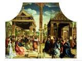 St. Thomas and St. Matthew Altarpiece, Centre Panel of Triptych of Scenes from the Saints Lives Giclee Print by Bernard van Orley