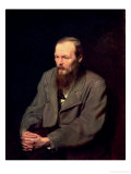 Portrait of Fyodor Dostoyevsky (1821-81) 1872 Giclee Print by Vasili Grigorevich Perov