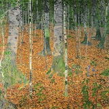 The Birch Wood, 1903 Gicleetryck av Gustav Klimt