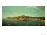 A View of Naples Giclee Print by Vanvitelli (Gaspar van Wittel)