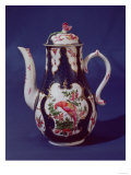 Worcester Coffee Pot, Decorated with Birds of Paradise, circa 1750 (Porcelain) Giclee Print