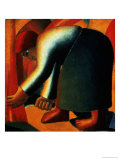 Woman Cutting, circa 1900 Giclee Print by Kasimir Malevich
