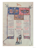 Page of Text and Illustration, from One of Three Volumes of a Jewish Book of Ritual, German Giclee Print