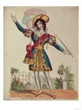 Madame Vestris in the role of Don Giovanni from Mozart's opera 'Don Giovanni' Giclee Print