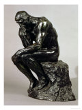 The Thinker (Le Penseur) Premium Giclee Print by Auguste Rodin