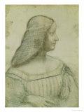 Portrait of Isabella D'Este (1474-1539) Giclee Print by  Leonardo da Vinci