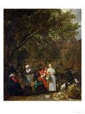 A Herb Market in Amsterdam Giclee Print by Gabriel Metsu