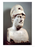 Bust of Pericles (D.429 BC) Roman, Copy of a Greek Original, circa 430 BC (Marble Sculpture) Giclee Print