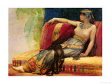 "Cleopatra (69-30 BC), Preparatory Study for ""Cleopatra Testing Poisons on the Condemned Prisoners"" Premium Giclee Print by Alexandre Cabanel"
