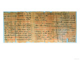 The Chester Beatty Medical Papyrus, New Kingdom, circa 1200 BC (Papyrus) Giclee Print