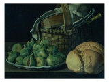 Still Life with Figs, 1746 Giclee Print by Luis Egidio Melendez