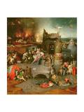Temptation of St. Anthony (Centre Panel) Giclée-Druck von Hieronymus Bosch
