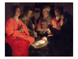 Adoration of the Shepherds Premium Giclee Print by Georges de La Tour