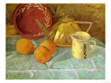 Still Life with Fruit and a Pitcher or Synchronization in Yellow, 1913 Giclee Print by Paul Serusier