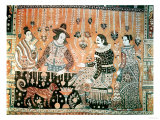 Wall Hanging Showing Early Traders to India, Indian, Late 16th Century (Cotton) Giclee Print