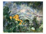 Montagne Sainte-Victoire and the Black Chateau, 1904-06 Giclee Print by Paul Cézanne