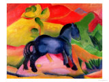 Little Blue Horse, 1912 Gicleetryck av Franz Marc