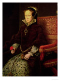 Queen Mary I (1516-58) 1554 Giclee Print by Antonis Mor