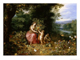 Allegory of Abundance Giclee Print by Jan Brueghel the Younger