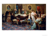 Chopin Playing the Piano in Prince Radziwill's Salon, 1887 Giclee Print by Henryk Siemiradzki