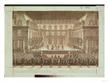 "Performance of the Opera ""Alceste,"" Performed in the Marble Courtyard at the Chateau De Versailles Giclee Print"