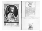(Clockwise from Left) Horace (65-8 BC), Scipio Aemilianus (Africanus Minor) (185-129 BC) Giclee Print