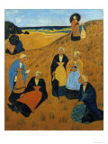 Young Breton Women Wearing Shawls, or the Girls of Douarnenez, 1895 Giclee Print by Paul Serusier