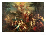 The Vision of Aeneas in the Elysian Fields Premium Giclee Print by Sebastiano Conca
