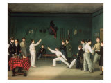 A Fencing Scene, 1827 Giclee Print by Adolphe Ladurner