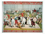 Poster Advertising the Barnum and Bailey Greatest Show on Earth Reproduction procédé giclée