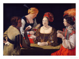 The Cheat with the Ace of Diamonds, circa 1635-40 Premium Giclee Print by Georges de La Tour