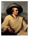 Johann Wolfgang von Goethe in the Campagna, c.1790, Giclee Print