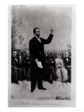 Lincoln's (1809-65) Address at Gettysburg, 1895 Giclee Print