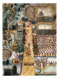 The Indian Village of Secoton, Book Illustration, circa 1570-80 Giclee Print by John White